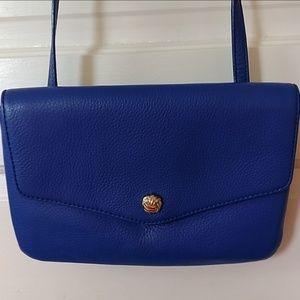 Blue Leather Crossbody